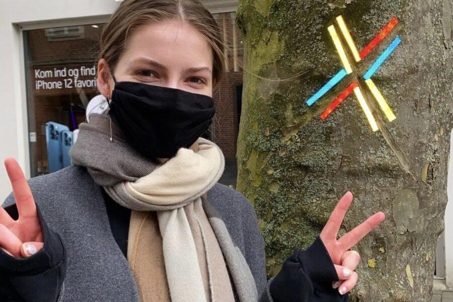 Unge fra Fredericia Gymnasium eksperimenterer med reflekstape