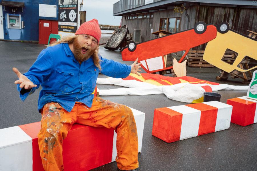 Værket tager form på Ærø, #VÆRKDINVERDEN. Foto af Christian Brems.