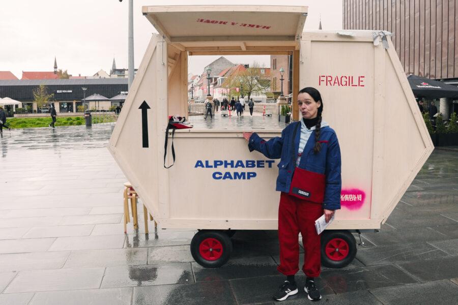 Den mobile camp i Vejle, #VÆRKDINVERDEN. Foto af Christian Brems.