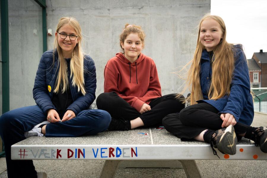 Unge i Fredericia på byrumsaktion 3. Foto af Christian Brems