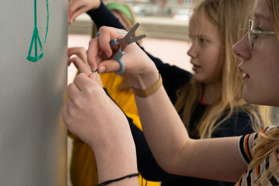 Unge i Fredericia på byrumsaktion 6. Foto af Christian Brems