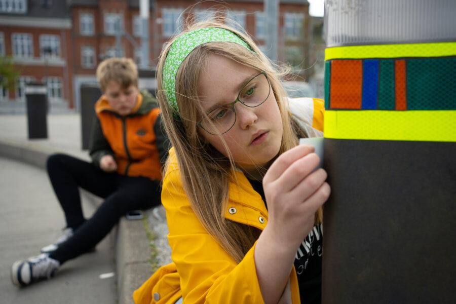 Unge i Fredericia på byrumsaktion 7. Foto af Christian Brems